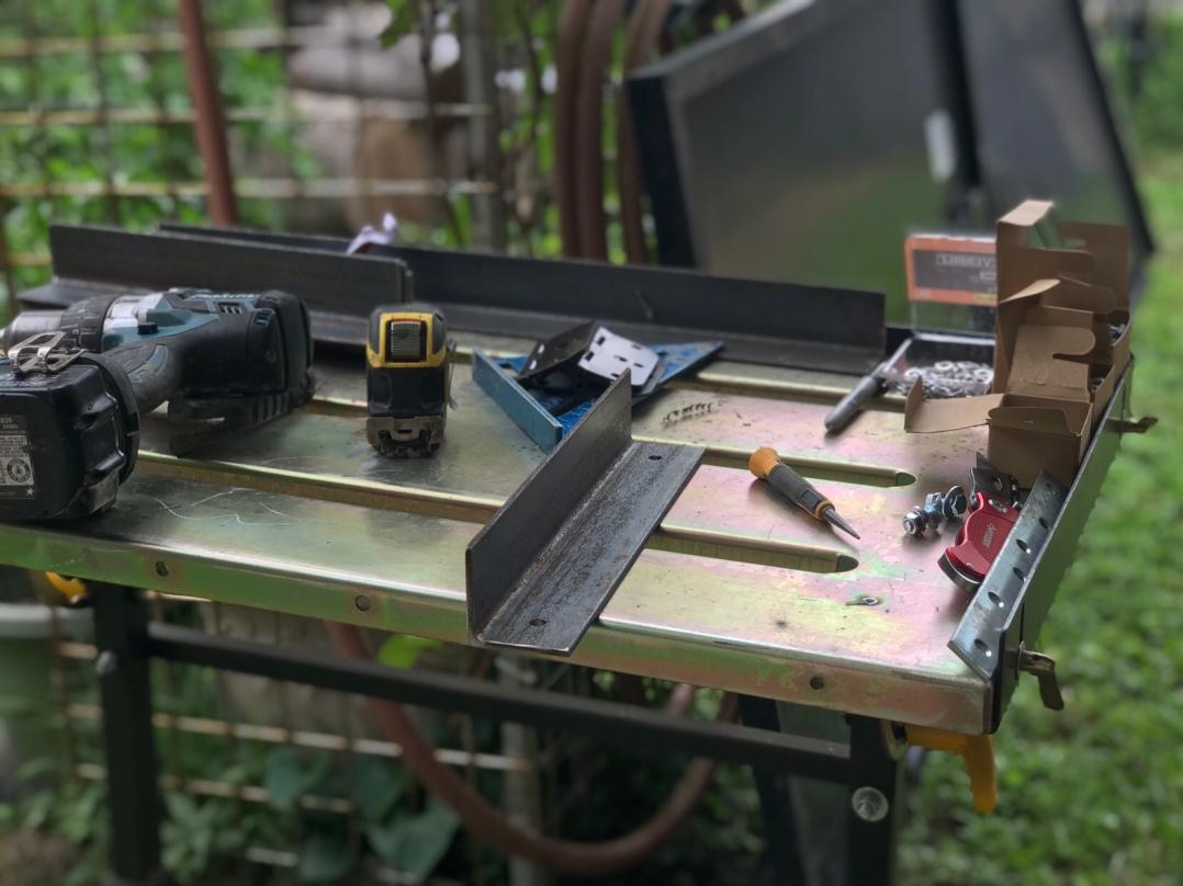 Brackets for solar panel hinges.